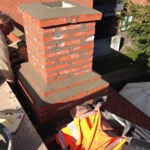 Murerarbejde færdig i forbindelse med skorsten projektet i Nørresundby