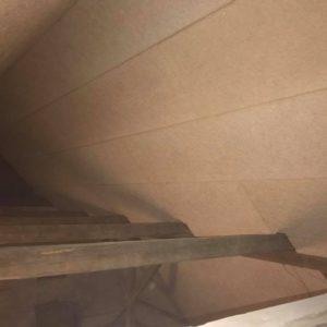 Isolering og montering af troldtekt loft - billede 9